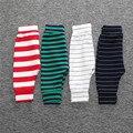 DKZ208 Primavera Pantalones de Los Cabritos de Rayas Polainas de Las Muchachas Niñas Infantil Niños Pantalones Niños Pantalones de Moda Casual de Algodón Pantalones de los muchachos