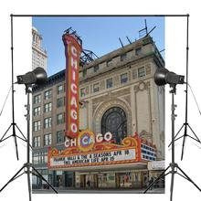 Chicago Theatre Wallpaper Photography Background Studio Props Wall Backdrop Theme 150x220cm