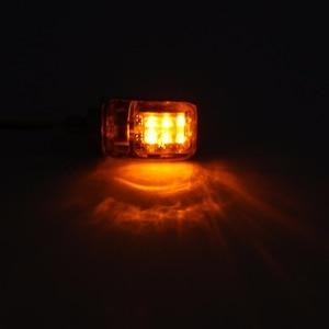 Image 5 - 1Pair 6LED 12V Motorcycle Mini Turn Signal Light Amber Blinker Indicator Little Rectangle Lamp For Cruiser Chopper Touring Dual