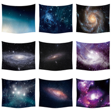 Галактический гобелен, Космический настенный гобелен для украшения стен, тканевый гобелен со звездами во вселенной, полиэстеровый настенный гобелен