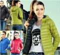 new qiu dong outfit for women Europe and the United States long sleeve hooded thin section cotton-padded jacke