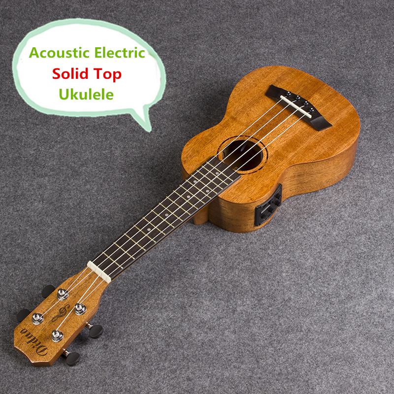 Solid Top Soprano Concert Acoustic Electric Ukulele 21 23 Inch Guitar 4 String Ukelele Guitarra Handcraft Diduo Mahogany Plug-in solid top concert acoustic electric ukulele 23 inch guitar 4 strings ukelele guitarra handcraft wood diduo mahogany plug in uke
