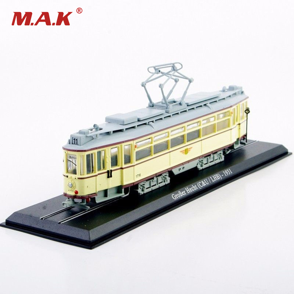 Diecast Tram Model Toys 1/87 Scale New GroBer Hecht 1931Yellow Truck Car Model Kids Gifts Collections