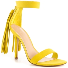 Yellow Ankle Strap Sandal Women Summer Shoes Stilettos High Heels Open Toe Heels Size 4-15 Custom Colors Runway Shoes