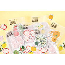 45pcs/pack Lovely Fruit Series Emoticon Sticker Pack Album Decorative DIY Diary Stationery Stickers Children Gift