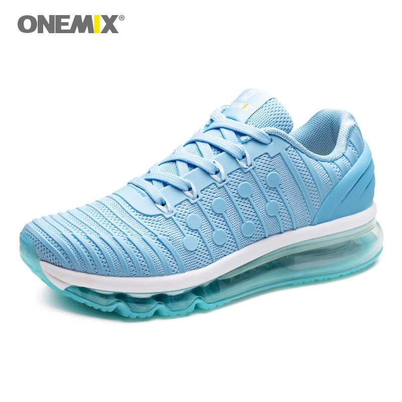 2019 Onemix femmes course baskets coussin d'air Absorption des chocs pour dame Sport Fitness adulte marche chaussures de Sport en plein Air
