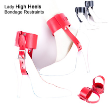 Womanizer High Heels Anti-shedding Bondage Restraints Belt Ankle Cuff Bedroom Temptation Sex Toys for Couples Game Married Women