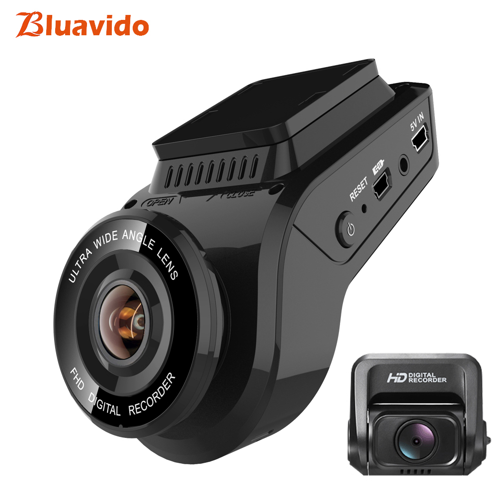 Bluavido 4K Dash Camera 2160P with 1080P Rear Cam Built in GPS tracker WDR Night Vision Novatek96663 Car DVR Video Recorder WiFi