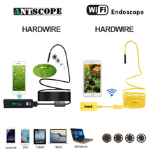 Antscope Wifi 8mm Endoscope 2/3.5/5/10M Yellow and Black Hardwire 1200P Android iOS Endoscopio Camera Inspection boroscopio 19