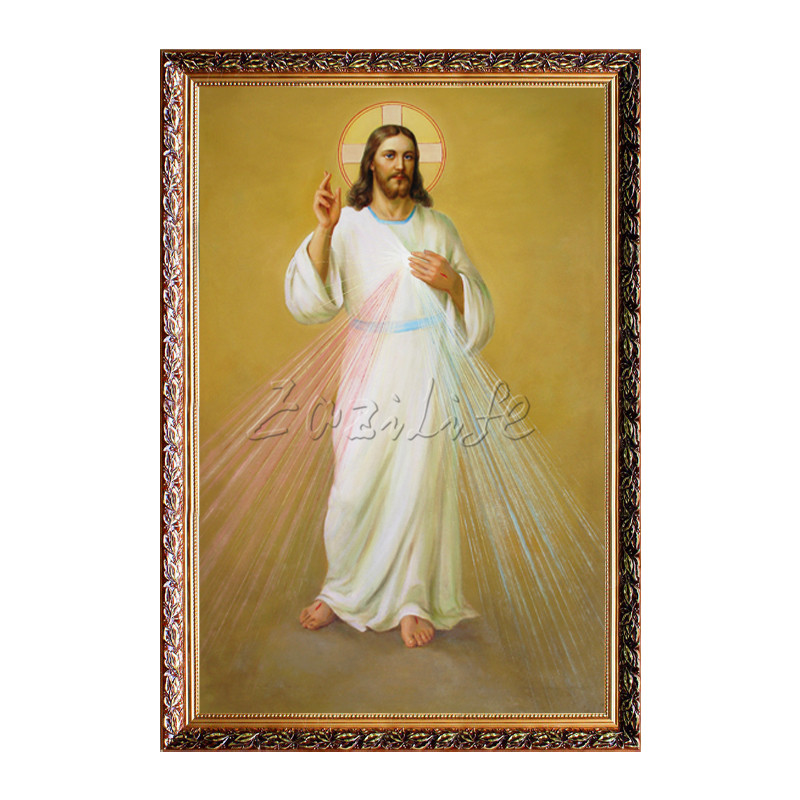 Poster and print of Jesus Christ Jesus Spray heart on canvas wall pictures for living room home decor Christmas decorations in Painting Calligraphy from Home Garden