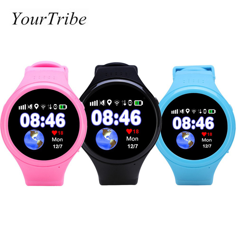 YourTribe Kids Touch Screen Smart Watch GPS WIFI LBS AGPS Tracking Children Old man SmartWatch SOS Baby Watch Anti Lost Monitor a3r elderly kids smart watch blood pressure heart rate monitor tracker sos anti lost gps wifi tracking old men women watches