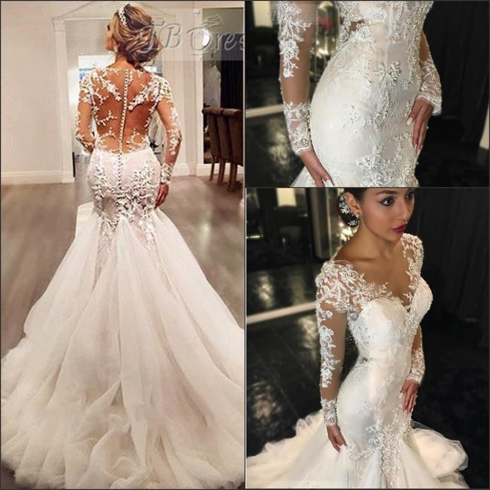 Organza Wedding Gowns: 2016 New Mermaid Bridal Dress Ruffled Organza Sweetheart