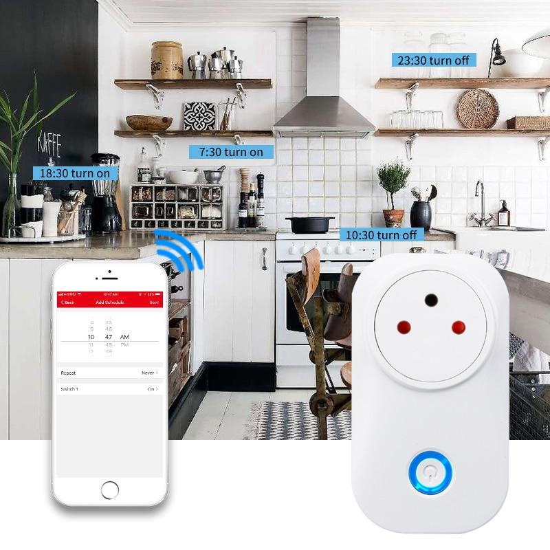 HTB1sTFybu6sK1RjSsrbq6xbDXXaD - FrankEver Tuya Cloud 10A 16A WiFi Smart Socket Power Israel Monitor Wireless Plug Work With Alexa Google Home Smart Household