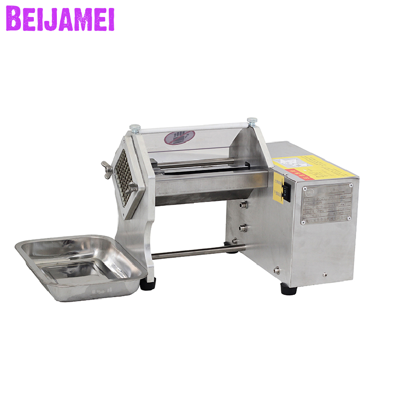 Beijamei Factory French Fries Cutter Commercial Electric Potato Chips Slicer Small Vegetable Fruit Cutting Machine