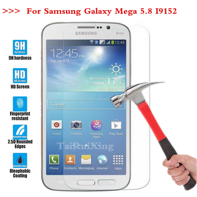 Screen Protector Film 0.3mm 9 H 25D Depan Premium Tempered Kaca Untuk Samsung Galaxy Mega 5.8 I9150 i9152 9152 9150 9158