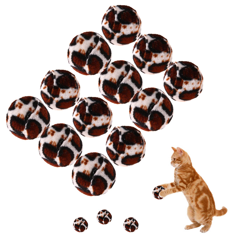 12pcs Cat Ball Toy Interactive Cat Toys Play Chewing Leopard Scratch Toy Dog Puppy Pet Traning Funny Toy Pet Supplies
