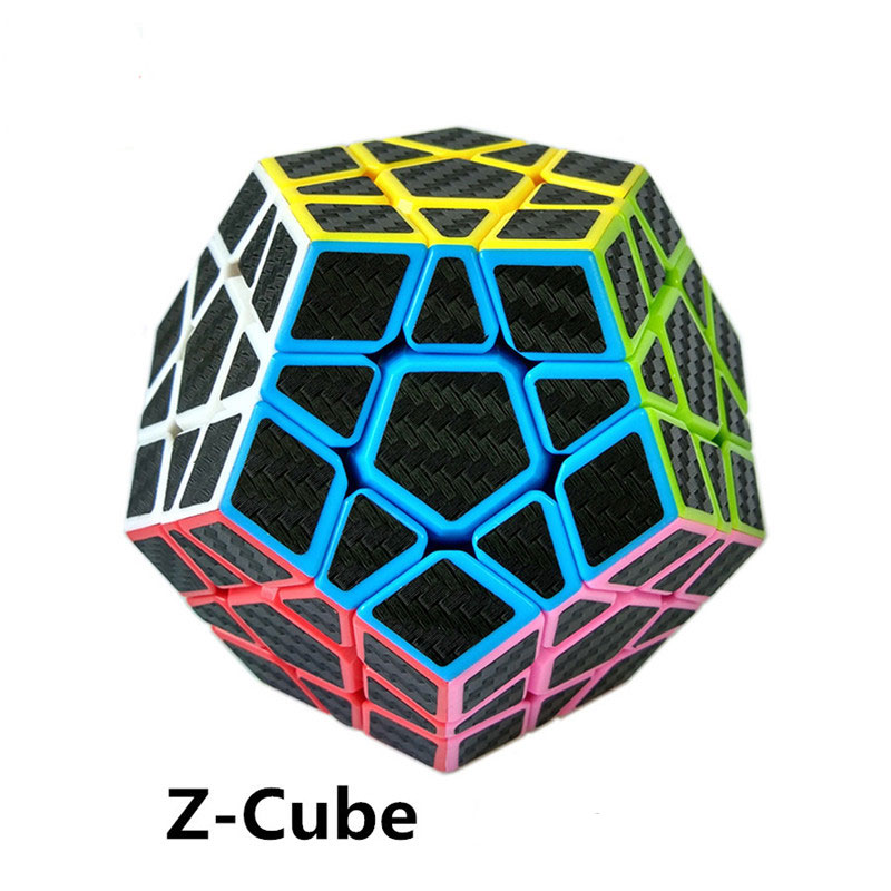 ZCUBE Carbon Fiber Sticker Speed Magic Cube Puzzle Toy Children Kids Gift Toy Youth Adult Instruction you2toys crystal skin penis sleeve прозрачная насадка на пенис с кольцом для мошонки