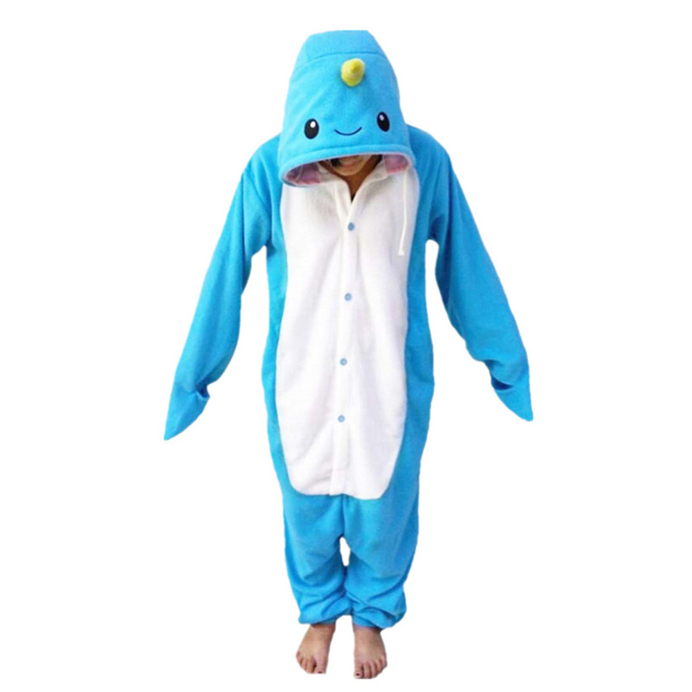 New Animal Pajamas Women Costumes Narwhal Onesies Men Pyjamas Costumes Cartoon Sleepsuit ...