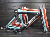 VISP arrival extra light AL6061 fix gear frame sets with multiple colors and good design/ bicycle frame