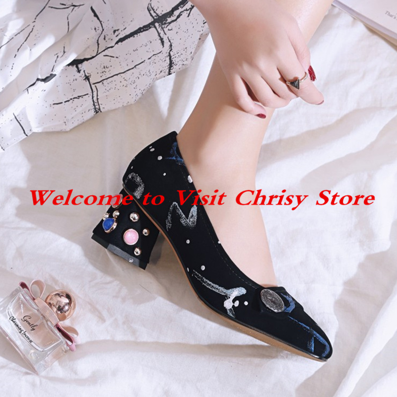 a9957fb22ce9 Square-Toe-Med-Heel -Zapatos-Mujer-Pearl-Decor-Rivets-Metal-Embellished-Women-Shoes -Floral-Pattern-Lady.jpg