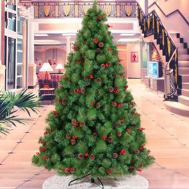 Red Red Pine Christmas Tree: Christmas New Year Preferred 210CM / 2.1M + Small Red