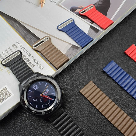 Leather loop Magnetic 20 22mm watch band straps for huawei watch 2 Sport Classic Samsung Gear