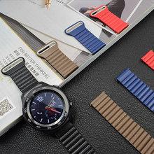 Lazo de cuero Magnética 20 22mm reloj venda de reloj correas para huawei 2 Sport Classic Artes de Samsung S3 Clásico Froniter correas de reloj