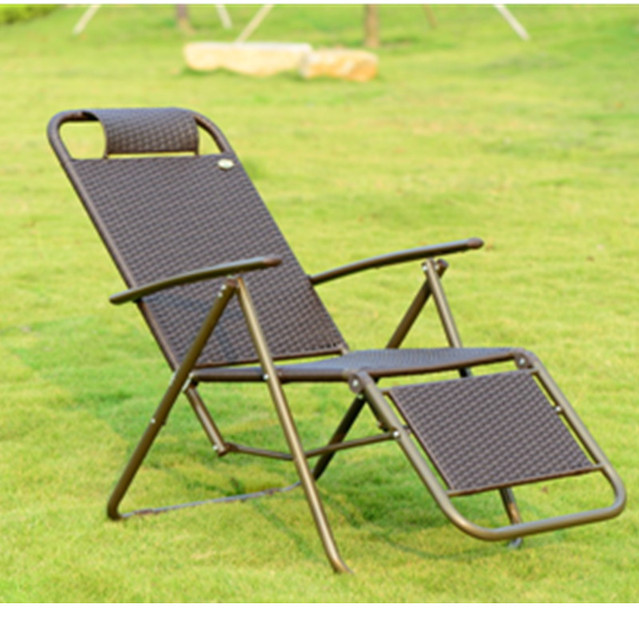 Indoor and outdoor wicker chair recliner sofa rattan lying bed     Indoor and outdoor wicker chair recliner sofa rattan lying bed terrace  lounge chairs folding chairs lying