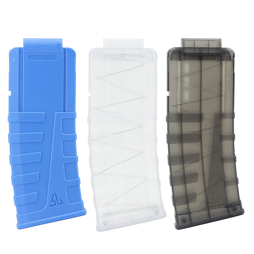 Newest 12 Reload Clip Magazines Round Darts Replacement Plastic Toy Gun Soft Bullet for Nerf Clips