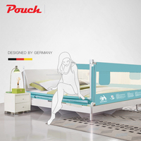 Pouch baby bed bumper for different size beds safe and high quality adjustable heights for infants