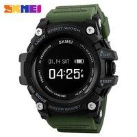 패션 스마트 시계 보수계 심장 박동 모니터 블루투스 시계 SKMEI 남성 시계 최고 브랜드 고급 디지털 스포츠 시계