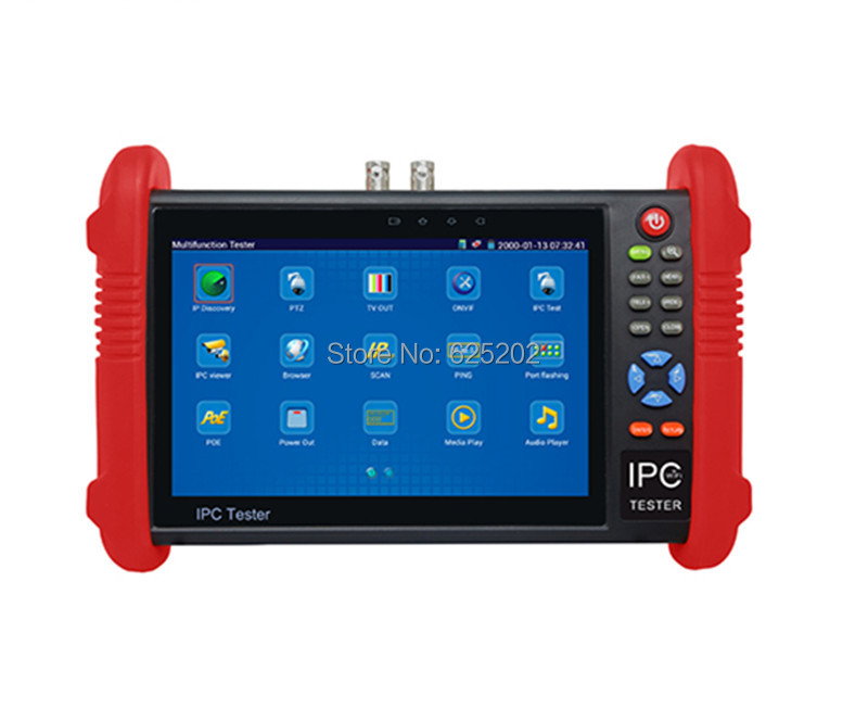 7 Inch Touch Screen Built-in Wifi CCTV Tester for IP/Analog Cameras Testing IPC-9800
