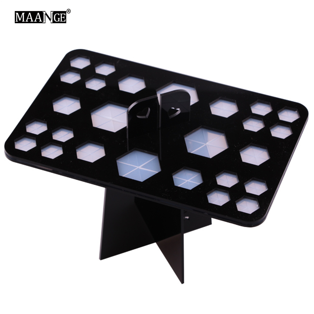 26 Holes Makeup Brush Holder Rack Drying Brushes Shelf Multifunction Stand Display Cosmetic Clean Tool Wash  Make up Brush Set цена 2016