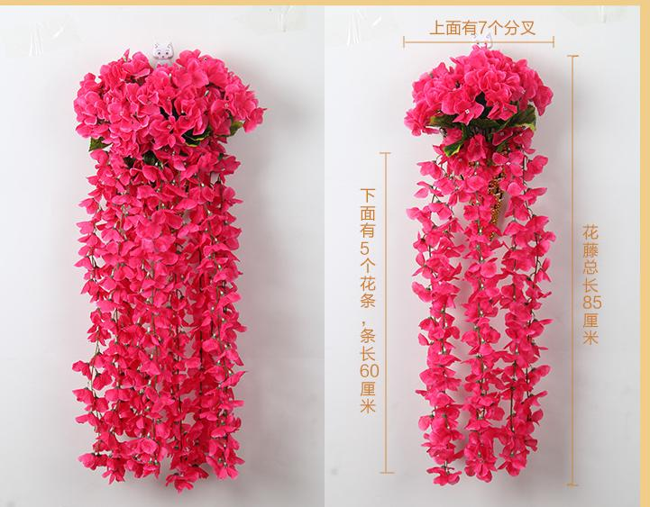 2pcs simulation of hydrangea hanging plastic flowers hanging basket 2pcs simulation of hydrangea hanging plastic flowers hanging basket wedding flower arch silk flowers wholesale simulation guide in artificial dried mightylinksfo