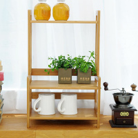 Bamboo multi purpose seasoning rack simple kitchen appliances storage rack bowl tray storage rack wx8151413