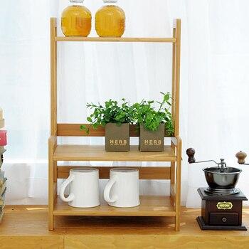 Bamboo multi-purpose seasoning rack simple kitchen appliances storage rack bowl tray storage rack wx8151413