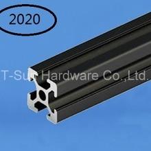 Черный алюминиевый профиль алюминиевый экструзионный профиль 20*20 обычно используется в сборке рамы устройства, стола и выставочного стенда