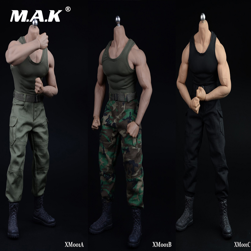 """1//6 PU Leather Camouflage Vest Underpants for 12/"""" Female Action Figure Body"""