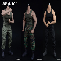 In stock 3 Colors 1:6 Scale Strong Muscle Male Clothes Vest & Pants & Belt & Shoes Model For M34 Man Action Figure Body