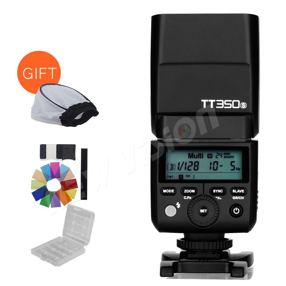Prix pour Nouvelle Arrivée! Godox Mini Speedlite TT350S Caméra Flash TTL HSS GN36 pour Sony Mirrorless DSLR Caméra A7 A6000 A6500