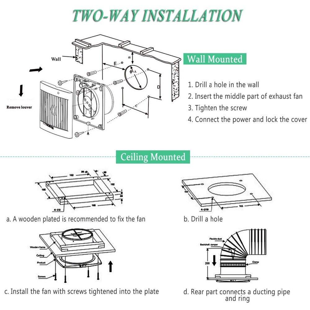 4 Ventilation Extractor Exhaust Fan Blower Window Wall