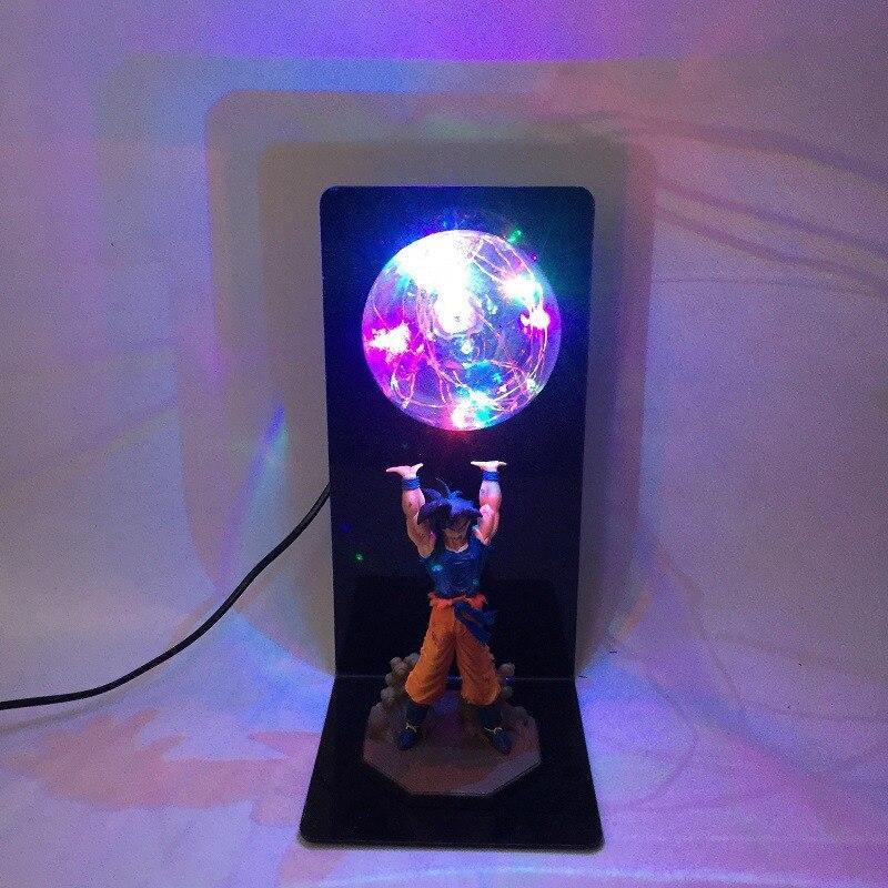 DIY Anime Dragon Ball Z Action Figures Goku Son Figurine Collectible  Model Baby Dolls LED Lamp Toys for Children Kids Christmas Gift  (2)