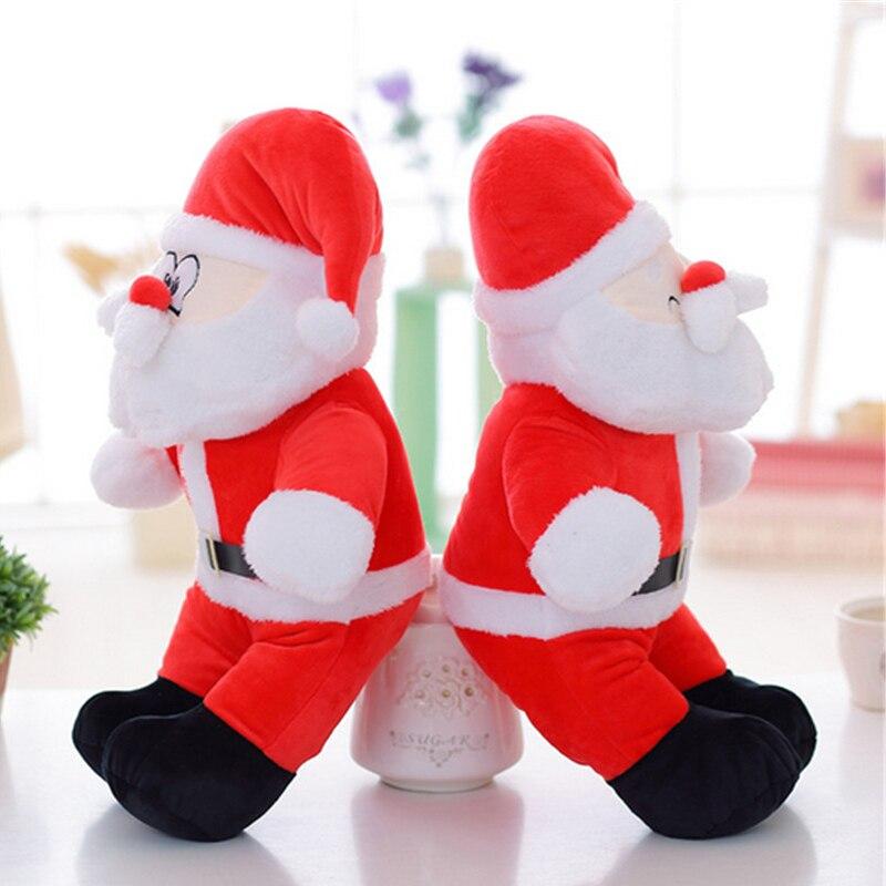 Fancytrader nouveau Jumbo père noël en peluche jouet grand géant en peluche doux chaud rouge joyeux noël décoration cadeau 80 cm - 6