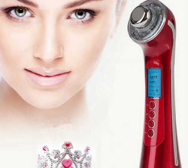 ФОТО Photon 3Color 3Mhz 5 in1 Ultrasonic Galvanic Ion Skin Care Massager Beauty Device US Plug