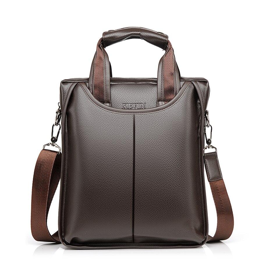 JACKKEVIN 2018 Men's Business Bag Brand Leather Briefcase Male Fashion Shoulder Bags Luxury Pu Leather Handbag Men Crossbody Bag