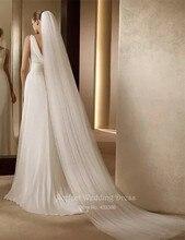 Слоновой расческой свадебная фата белого элегантные слоя кости простой свадебные цвета