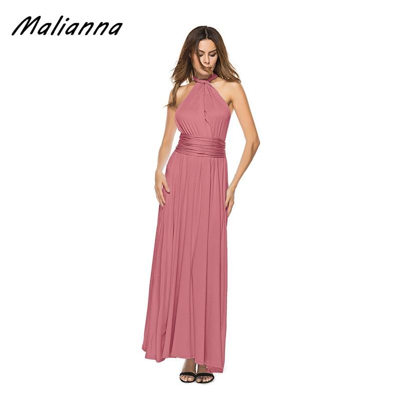 Comprar ahora Convertible multi way WRAP Maxi vestido backless sexy ...