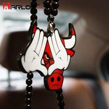 Gesture Bulls Ho Авто Модный кулон JDM внутреннее зеркало заднего вида орнамент Висячие Подвески шармы акриловые дуплекс автомобиль-Стайлинг