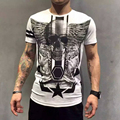 Mens new fashion t shirt cotton fitness short sleeve men t-shirt men clothes swear hip hop!Free Shipping