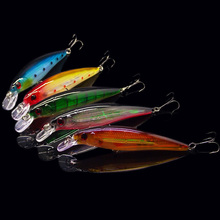 Hot 11cm 13.4g Fishing Bait 10pcs/lot One lure Set Classic laser 10 colors choices minow lure fishing tackle for outdoor sports